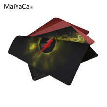 MaiYaCa Flash Logo Rubber Soft Gaming Mouse Games Black Mouse pad 18*22cm and 25*29cm
