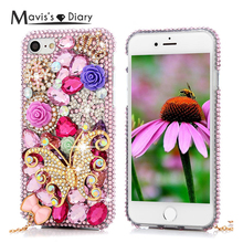 Buy 3D Handmade Diamond Case iPhone 7 Luxury Bling Shiny Rhinestone Glitter Crystal Clear Hard PC Back Cover iPhone 7 for $4.20 in AliExpress store