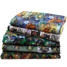 50*145CM cartoon printed Polyester&cotton fabric for Tissue Kids Bedding home textile for Sewing Tilda Doll,c422(China)