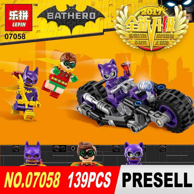 Lepin 07058 New Genuine Movie Series The Catwoman Motorcycle Chase Set 70902 Building Blocks Bricks Educational Toys<br><br>Aliexpress