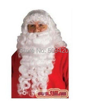 FSX5982Q&gt;&gt;&gt;&gt;christmas Santa Claus Costume Complete Beard Wig and Eyebrow set wigs<br><br>Aliexpress
