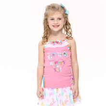 children bbay girl tanks 2016 new nova kids pink color love princess girl tanks cheap sale clothes girls  clothing child wear