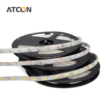 1Roll / 5M Waterproof 2835 (3528) SMD LED Strip light String DC12V RGB 60LEDs/M LED lamp Tape For Stair Holiday Outdoor lighting