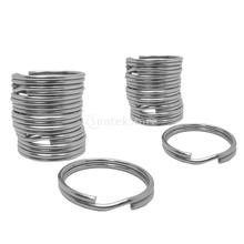 10Pcs Durable Portable Underwater Scuba Diving Outdoor Camping Sports Stainless Steel Split Ring for Gear Attachment 30mm/22mm(China)
