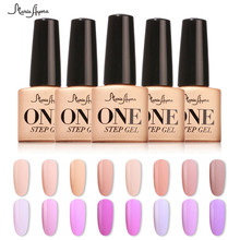 Fashion One Step Soak Off Nail Gel Polish 3 In 1 UV LED 7ml Varnish No Need Base Top Coat Manicure Lacquer(China)