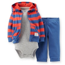 LSL3-029, Original, Baby Boys 3-Piece Hooded Cardigan Set, Spring And Autumn Wear,Super Quality, Free Shipping