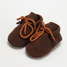 2016 New Infant Toddler Newborn Baby Girls Boys Kids Prewalker Genuine Leather Lace-Up Soft Soled Shoes Children Boots Booty