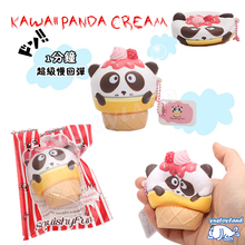 2017 New Arrival Kawaii Cute Squishy Panda Ice Cream Slow Rising Scented Vent Charms Phone Strap Kids Toy Doll Gift With Package