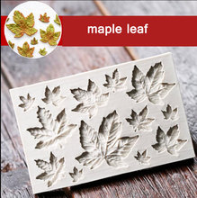 Maple Leaf Shape Silicone Cake Mold,Kitchen Baking Mold For Chocolate Pastry Candy,Bakeware Fondant Decorating Tools Accessories