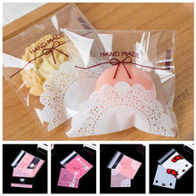 100pcs Wholesale Lace Bakery Handmade Cookie Jewelry Bags Favor Cello Self-Adhesive Small OPP Gift Bag