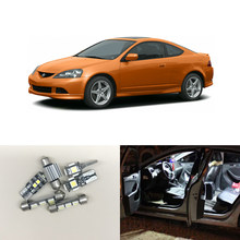 For Acura RSX 2002 2006 WHITE Interior Lighting Led Package Kits Deal License Plate Map Dome Trunk Cargo Area Light Bulbs