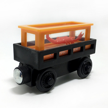 w10 Wood Thomas&FriendsTrain Toy Magnetic Scorpion delivery vehicles Wooden Model Train Carriage Kids/Child boys&girls Gift(China)