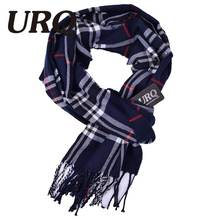 plaid men scarf in winter fashion knitted scarves classical plaid scarf for men imitation cashmere scarves tassel A3A17522