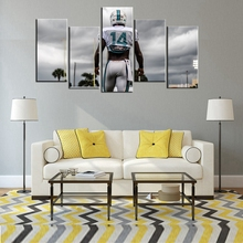 Cool Poster Miami Dolphins Oil Painting On Canvas Wall Art Photo Room Decor 5 Pcs/Set No Frame Waterproof
