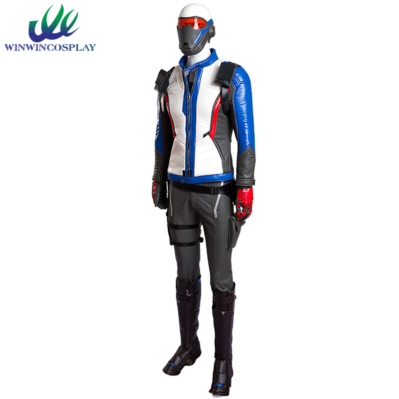 Game OW Over and Watch Hero No.76 Soldier Cosplay Set For Adult Men Comic Con Party Halloween Cosplay Costume Cloth
