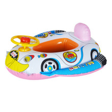 Kids Swimming Rings Baby Inflatable Swim Ring Floating Aid Lifebuoy Cute Pool Float Child Police Cars Toys Seat Boat