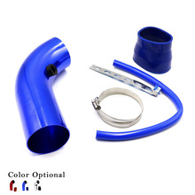 3'' inch 76mm  Universal Aluminum car Air Intake Pipe kit Pipes cold Air Intake System Duct Tube Kit Air filter