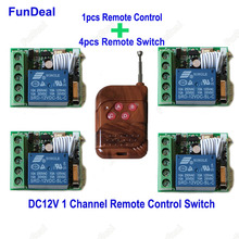 New Universal Gate Remote Control Switch 433mhz DC 12V 1CH relay Receiver Module and RF Transmitter 433 Wireless Remote Controls(China)