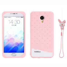 For Meizu M3 mini Fabitoo 3D Cute Cartoon Rabbit Ice Cream Lanyard Soft Silicone Phone Cases Cover