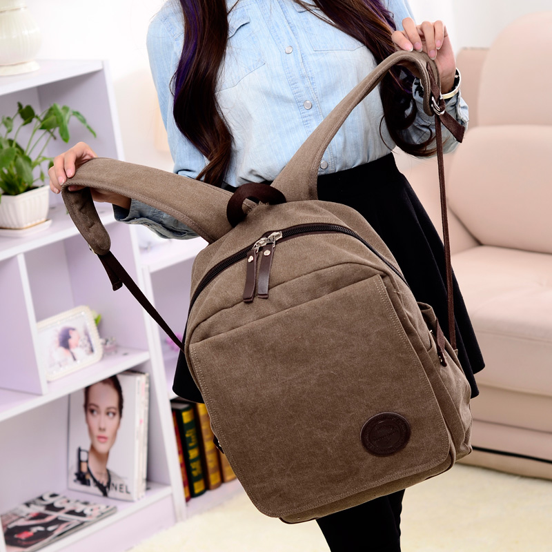 preppy school bags  Women Men Canvas Backpack Schoolbags for girl Boy Teenagers Casual Travel Laptop Bags Rucksack  sac a main<br>