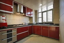 High gloss/lacquer kitchen cabinet mordern(LH-LA077)(China)