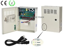 CCTV 18Channel AC 100-240V Input DC12V 10A UPS Box Power Supply Support Battery CE ROHS For CCTV Camera