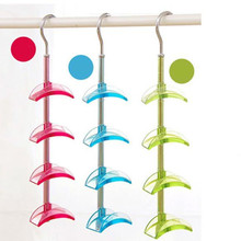 360 Degree 4 Layer Rotating Closet Storage Holders & Racks Organizer Saving Place Women Handbag Hanger Hook Holder