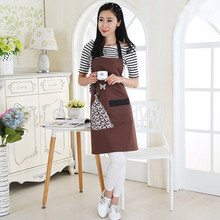 Hot Sale Waterproof Oil-proof Kitchen Chef Apron For Women Cotton Waist Work Apron With Pockets Bbq Apron Cooking Tools(China)