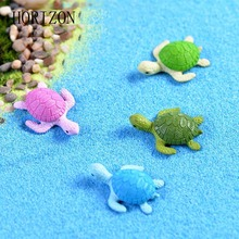 New Arrival 4Pcs Mini Turtle Tortoise Miniature Fairy Garden Decoration DIY Doll House Terrarium Micro Landscape Decoration