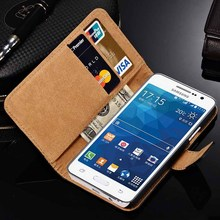 Coque Genuine Leather For Samsung Galaxy A3 A5 A7 2016 J5 J7 Grand Prime G530 G531 Case Wallet Flip Cover with Holder Bags