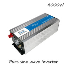 DC-AC 4000W Pure Sine Wave Inverter 12V To 220V Converters Voltage Off Grid Electric Power Supply LED Digital Display USB China