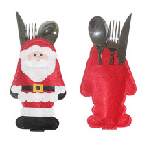 1 Pcs Christmas Tableware Bags Dining Restaurant Table Decoration Knife Fork Holder Santa Claus Christmas New Year Kitchen Decor