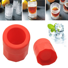 1pc Cup Shape Rubber Shooters Ice Cube Shot Glass Freeze Mold Maker Tray Party