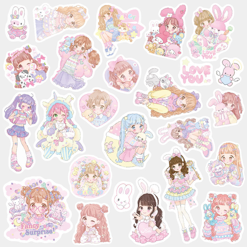 Pet Girl  Decorative Washi Stickers Scrapbooking Stick Label Diary Stationery Album Stickers