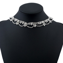 The New Hot Sale Short Silver Diamond Necklace Is A Must-Have Bridal Necklace For The Wedding