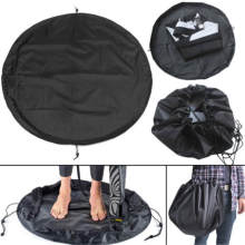 50cm Black Nylon Waterproof Wetsuit Changing Mat Bag Surfing Stand-on Changing Mat Wetsuit Bag Swimming Accessories