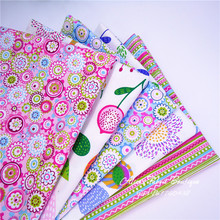 40*50cm 5 pcs/ lot colorful summer style 100% cotton fabric for doll colth,bags,diy sewing textiles