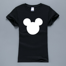 Mouse Head Cartoon Women T-Shirt 2017 Hot Sale Summer T-Shirt Women Harajuku Tops Kawaii T Shirts For Lady K-pop Pink Tshirt(China)