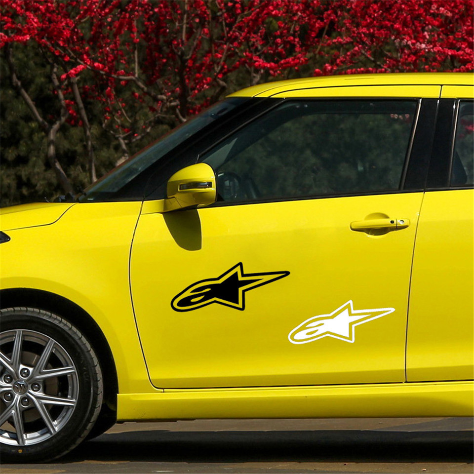 Cunymagos 3D Alpine Star Car Stickers and Decals 18cm7.6cm Car Body Window wall Stickers Car Styling (3)