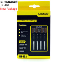 Liitokala Lii-402 18650 Charger 1.2V 3.7V 3.2V 3.85V AA / AAA 26650 10440 14500 16340 25500 NiMH lithium battery smart charger(China)