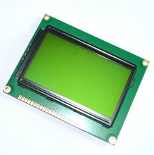 128*64 DOTS LCD module 5V Yellow and green screen 12864 LCD with backlight ST7920 Parallel port(China)