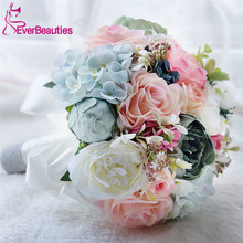 Buy Bridal Bouquet Wedding Flowers Garden Bouquet Flowers Bridesmaid Bouquets Roses Hydrangea for $27.99 in AliExpress store