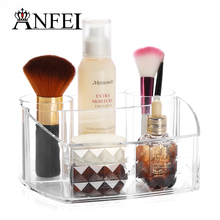 WEIAI New Listing Diamond Pattern Brush Storage Box Makeup Artist Case With Clear Acrylic Makeup Cosmetic Organizer 18.5*15*9cm