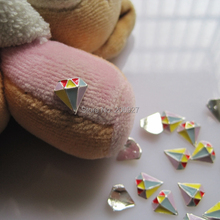 MD-500 10pcs Fancy Colorful Diamond Deco Metal Charms Metal Deco Charms Nail Art