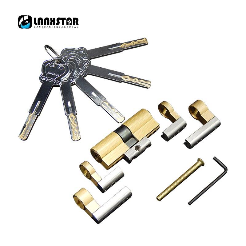 Super C Grade Blade Lock Core 5 Thickness Keys Class C Lock Cylinder Length Adjustable Modular Copper Anti-theft Locks Core<br>