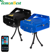 Club DJ Disco Light Projector Stage Laser Light Party Green Red Voice Control Function with Remote US /UK /AU/ EU LemonBest