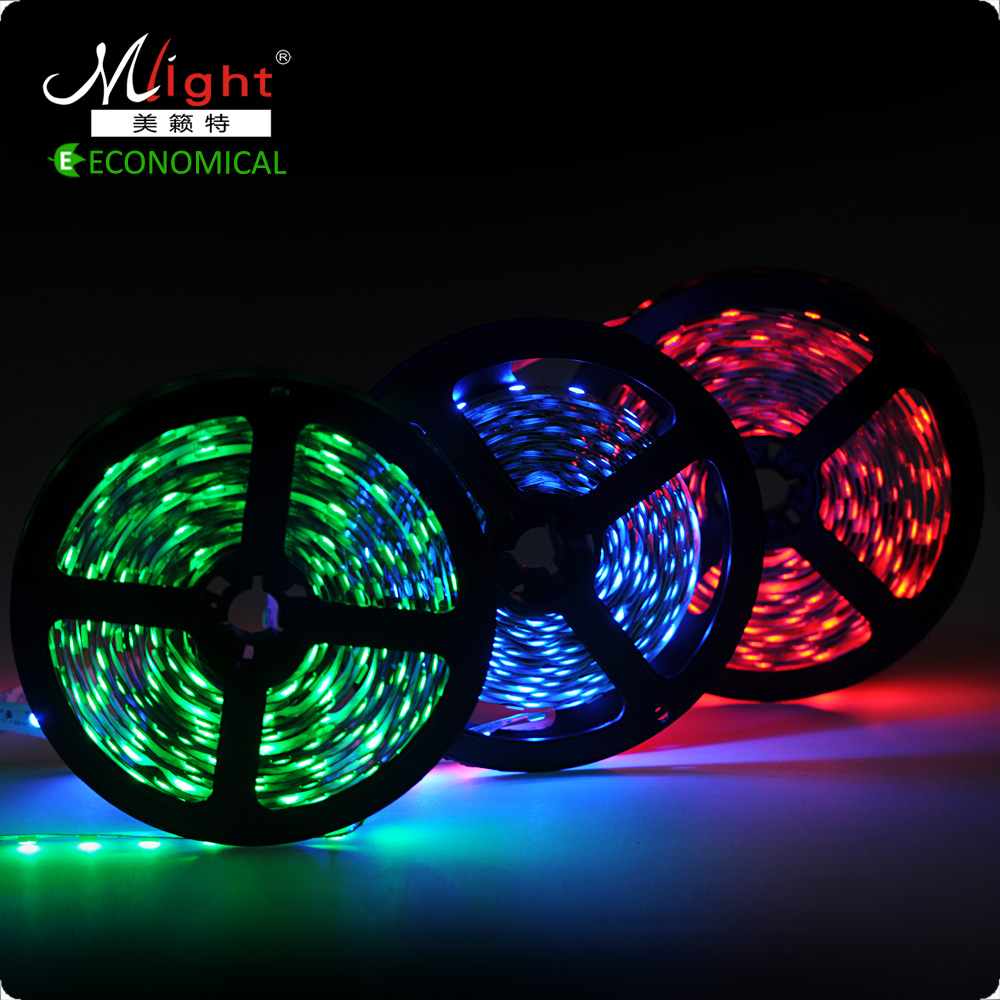 5 meters SMD 5050 12V Flexible LED Strip Indoor Decorative Tape Light RGB No-waterproof IP20 Waterproof IP44 LED Strip Light(China (Mainland))