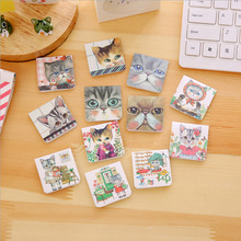 3pcs/lot Cute Cat Magnetic force bookmark material escolar magnetic bookmarks for book stationery school supplies papelaria