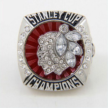 Promotion Replica Newest Design 2013 Ice Hockey Chicago Black Hawk Championship Rings(China)