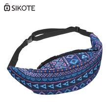 SIKOTE Bohemian Woman Waist Packs 2017 New Geometric Pattern Polyester Travelling Mobile Phone Bag Oxford Wallet Bags(China)